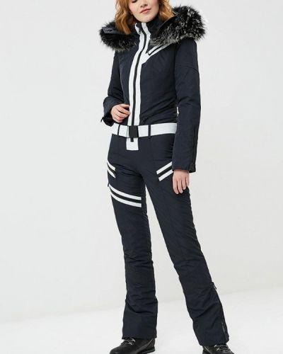 Зимний комбинезон черный горнолыжный Odri