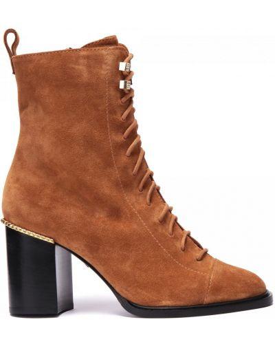 Оранжевые кожаные ботинки круглые Grey Mer