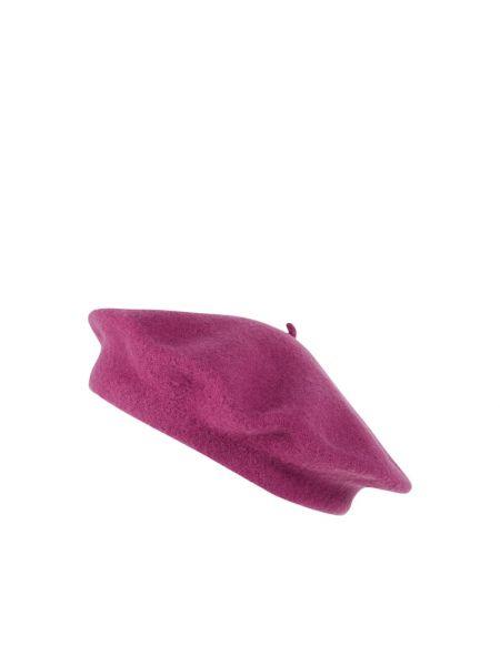Różowy beret wełniany Loevenich