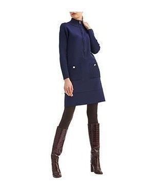 Повседневное платье шерстяное синее Luisa Spagnoli