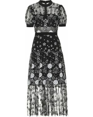 Платье мини футляр из фатина Self-portrait