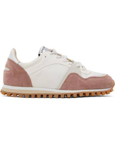 Białe sneakersy na obcasie Spalwart