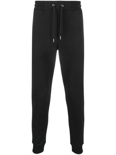 Czarne spodnie bawełniane z haftem Mcq Alexander Mcqueen