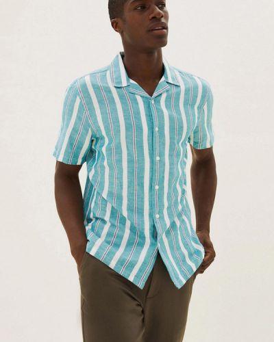 Бирюзовая рубашка с короткими рукавами Marks & Spencer