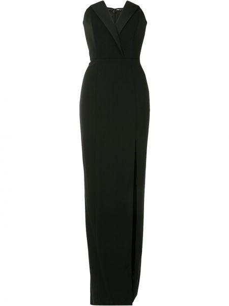Черное вечернее платье свободного кроя с вырезом Jay Godfrey