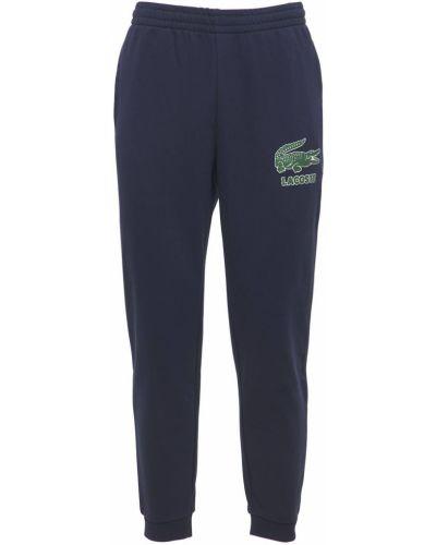 Prążkowane joggery bawełniane Lacoste