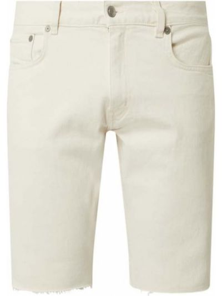 Bawełna bawełna niebieski dżinsowe szorty z paskami Tommy Hilfiger