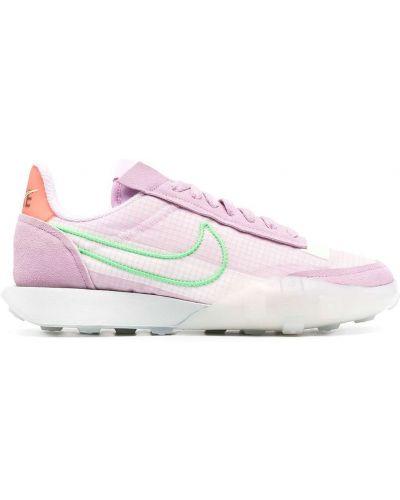 Markowe fioletowy koronkowa top Nike