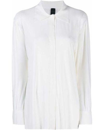 Рубашка с длинным рукавом белая на пуговицах Norma Kamali
