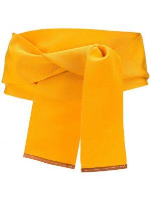 Желтый ремень из вискозы с завязками с декоративной отделкой Gianfranco Ferre Pre-owned
