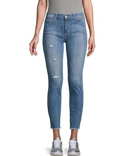 Синие зауженные джинсы-скинни с карманами Siwy