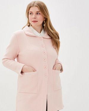 Розовое пальто с капюшоном Milanika