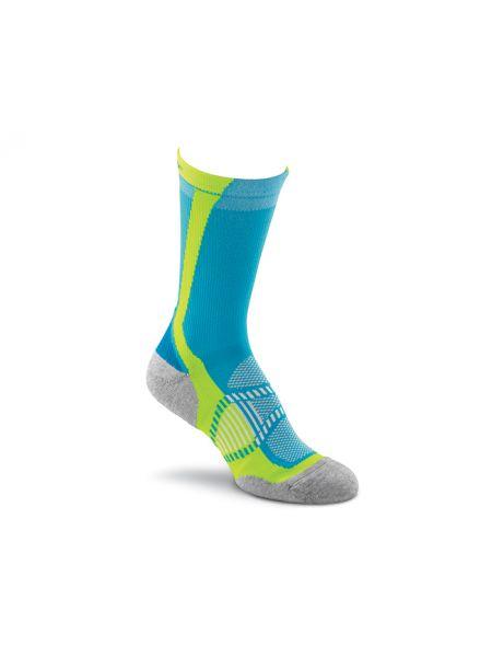 Коричневые нейлоновые спортивные компрессионные носки высокие Foxriver