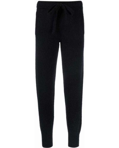 Шелковые брюки - черные Laneus