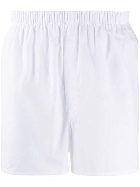 Хлопковые белые носки с поясом Sunspel