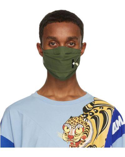 Хлопковая белая маска для лица с вышивкой Kenzo
