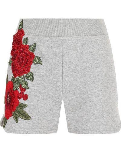 Короткие шорты с цветочным принтом с поясом Philipp Plein