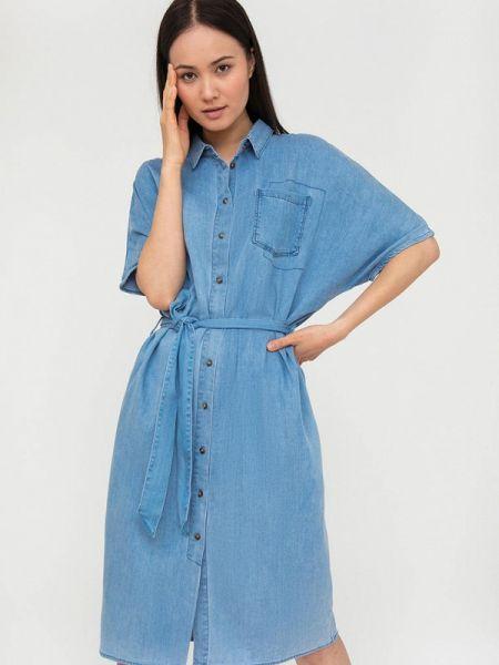 Свободное расклешенное джинсовое платье Finn Flare
