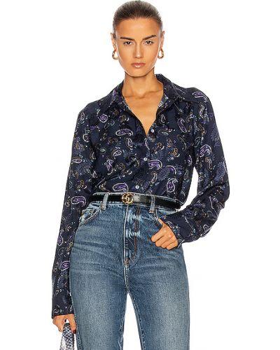 Домашняя черная джинсовая рубашка с манжетами Acne Studios