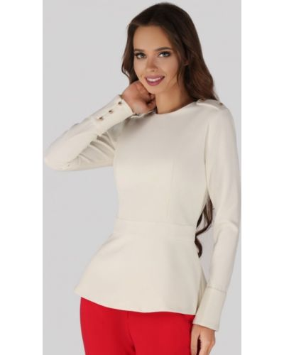Блузка с длинным рукавом белая Anushka By Anna Pavlova