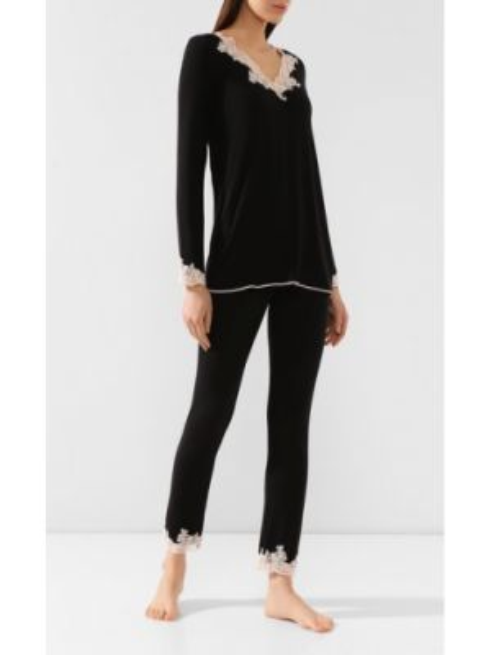 Кружевная пижама - черная Ritratti Milano