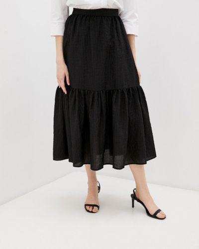 Черная юбка свободного кроя Sisley