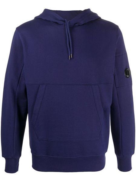 Приталенная фиолетовая толстовка с капюшоном C.p. Company