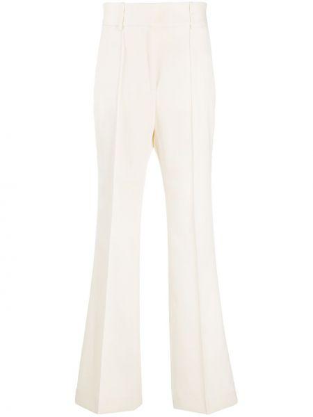 Rozbłysnął wełniany spodnie w paski z boku z paskiem z paskami Givenchy
