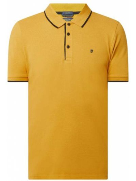 T-shirt bawełniana - żółta Pierre Cardin