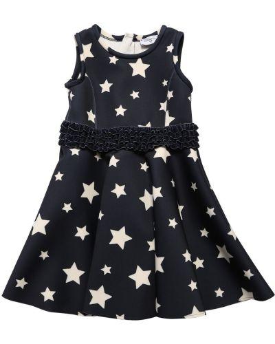 Платье с поясом со складками на молнии Monnalisa