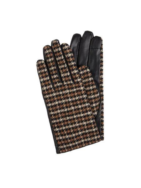 Czarne rękawiczki skorzane Ichi