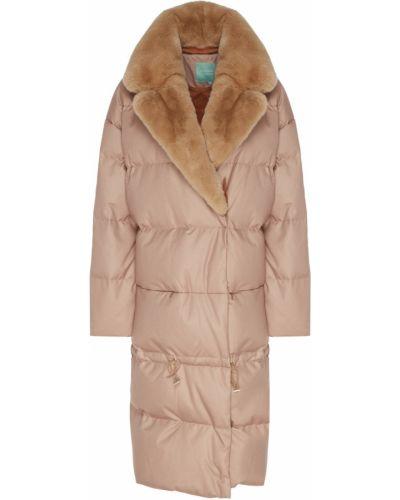 Стеганое пальто - бежевое Akhmadullina Dreams