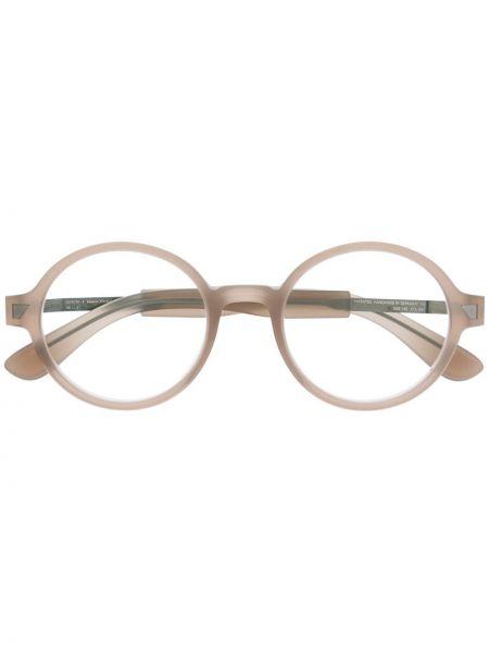 Beżowe okulary Mykita+maison Margiela