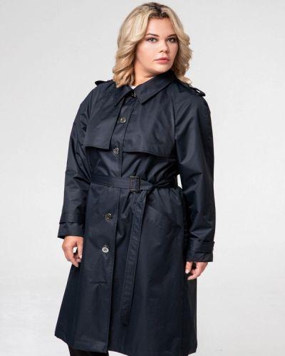 Плащ черный авантюра Plus Size Fashion