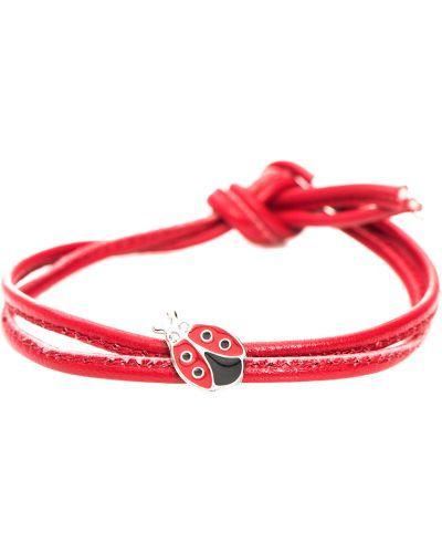Кожаный браслет - красный Nomination