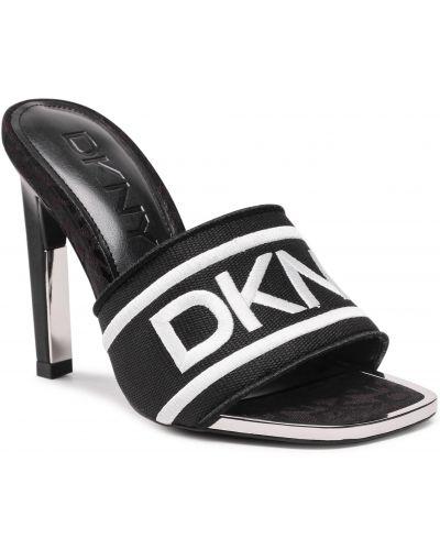 Białe sandały eleganckie Dkny