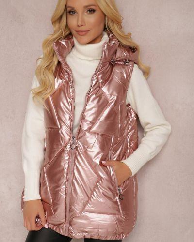 Kamizelka pikowana - różowa Renee