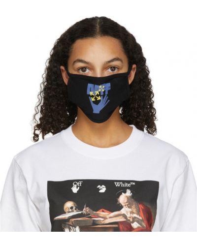 Bawełna bawełna czarny z paskiem maska do rąk Off-white