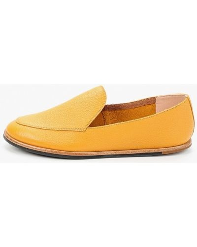 Оранжевые кожаные туфли Pazolini