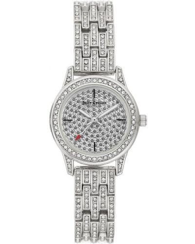 Szary zegarek mechaniczny srebrny kwarc Juicy Couture