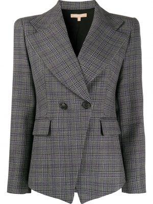 Приталенный классический пиджак в клетку двубортный Michael Kors Collection