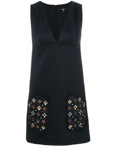 Платье с цветочным принтом с V-образным вырезом Versus
