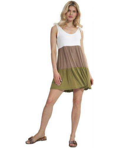 Zielona sukienka mini Figl