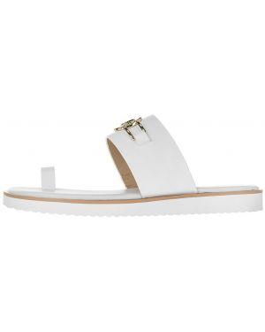 Шлепанцы белые кожаные Michael Michael Kors