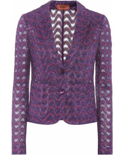 Нейлоновый малиновый пиджак Missoni