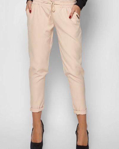 Бежевые брюки зауженные Karree