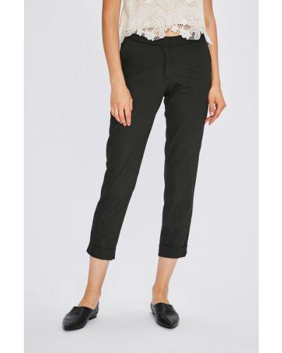 Черные брюки с поясом с воротником Miss Poem