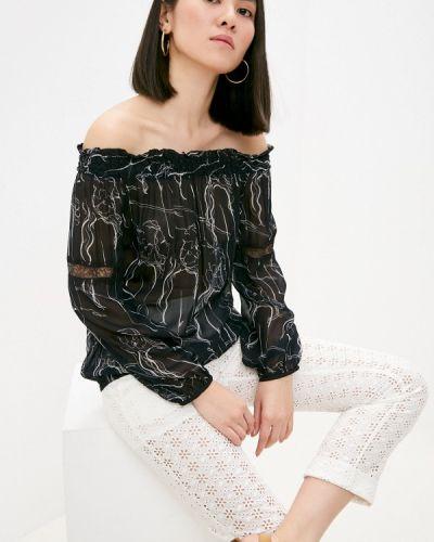 Черная блузка с открытыми плечами Patrizia Pepe