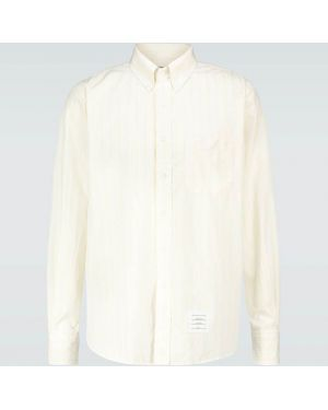Koszula klasyczna w paski z paskami Thom Browne