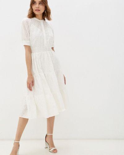 Белое платье а-силуэта Lusio